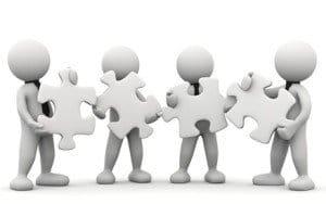 omini bianchi con puzzle singolo