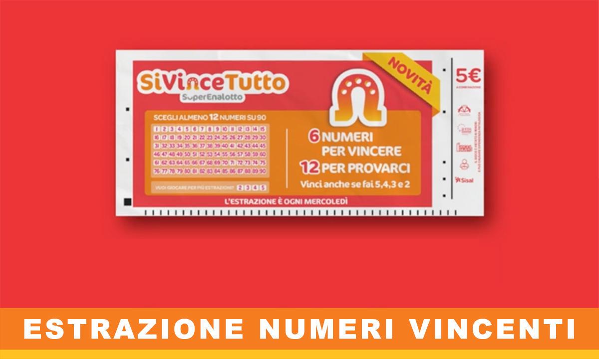 SiVinceTutto Estrazione Numeri Vincenti
