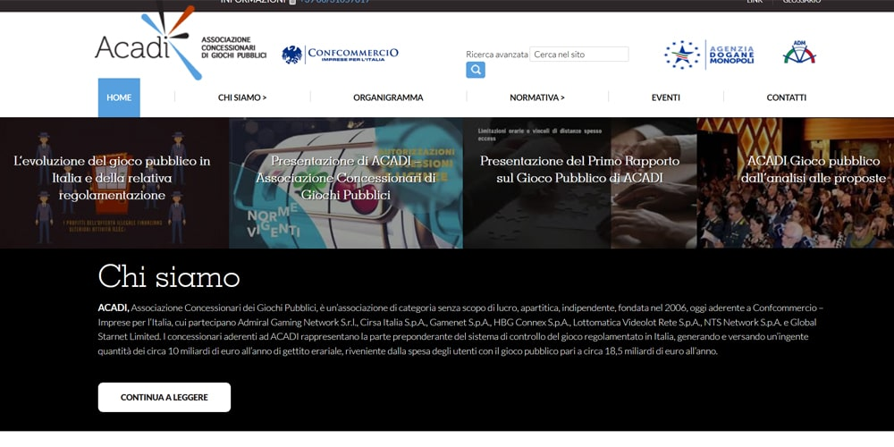 ACADI sito web
